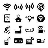 Wireless technology, Wi-Fi web icons set. — Stock Vector
