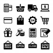 Shopping icons set — Stock Vector #39174897