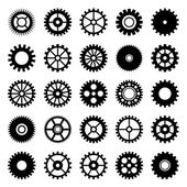 Gear wheel icons set 1 — Stock vektor