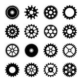 Gear wheel icons set 2 — Stock Vector