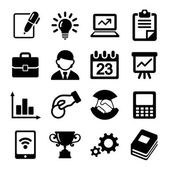 Business icons, management and human resources. — Stock Vector