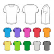 T-shirt in various colors - 2. — Stock Vector