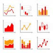 Business Infographic Colorful Charts and Diagrams Set 2. — Stock Vector