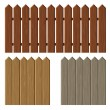Fence with different wooden texture pattern — Stock Vector