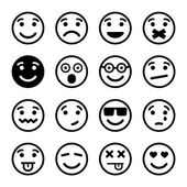 Smiley faces ns set — Stock Vector