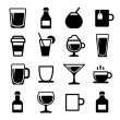 Stock Vector: Drink and beverage icons set