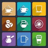 Coffee Flat Icons Set 43 — Stock Vector