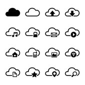 Cloud Storage Icons Set — Stock Vector