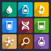 Chemical  Flat Icons Set 49 — Vettoriale Stock
