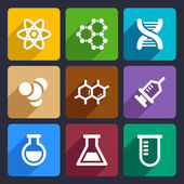 Chemical  Flat Icons Set 50 — Vettoriale Stock