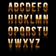 Gold Font Set 1. File contains graphic style. — Stock Vector