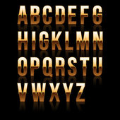 Gold Font Set 1. File contains graphic style. — Stock vektor