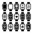 Stock Vector: Smart Watch Icon Set.