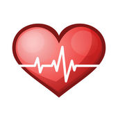 Heart beat rate icon, healthcare  vector illustration — 图库矢量图片