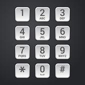 Digital dial plate of security lock or telephone keypad vector — Stock Vector
