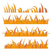 Autumn Grass Constructor on White. Vector — Stockvektor