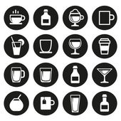 Drink and beverage icons set — Stock Vector