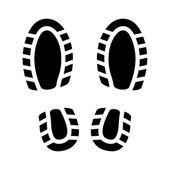 отпечаток обуви — Cтоковый вектор