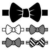 Bow Tie Icons Set — Stock Vector