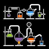 Chemistry Laboratory Infographic — Stok Vektör
