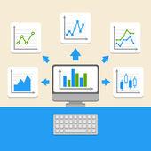 Elementos de negocios infografía — Vector de stock