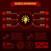 Elementos de negocios infografía. — Vector de stock