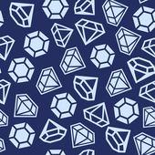 Diamond Seamless Pattern — Stock Vector
