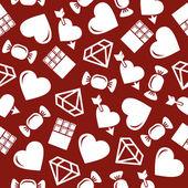 Romantische naadloze patroon. — Stockvector