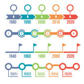 Colorful Timeline Infographic Set — Stock Vector