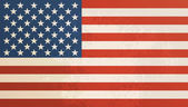 American flag vintage textured background. — Stock Vector