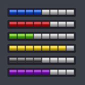 Цвет загрузки прогресс бар установить. — Cтоковый вектор