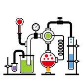 Chemistry Laboratory Infographic Set 2 — Stockvektor