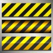 Set of Danger and Police Warning Lines — Stock Vector
