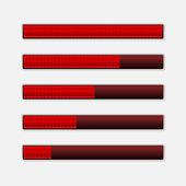 Set van voortgangsbalken. vector laden bars — Stockvector