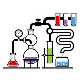 Chemistry Laboratory Infographic Set 3 — Stock Vector