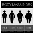 Body Mass Index Infographic Icons. Vector — Stock Vector #48021697