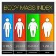 Body Mass Index Infographic Icons. Vector — Stock Vector #48021705