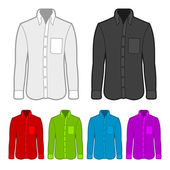 Shirt in various colors. — Stockvector