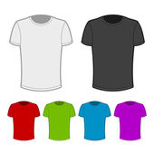 T-shirt in various colors - 2. — Stockvector