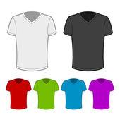 T-shirt en différentes couleurs - 1. — Vecteur