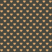 Seamless Retro Style Pattern with Hearts. Vector — Wektor stockowy