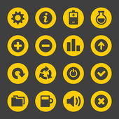 Universal Simple Web Icons Set 2 — Stock vektor