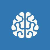 Hjärnan ikon. vektor på blå bakgrund — Stock vektor