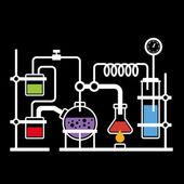 Chemistry Laboratory Infographic — Stock Vector