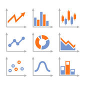 Simple Set of Diagram and Graphs. Vector — Stock Vector