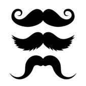 Set of Mustache on White Background. Vector — Stock Vector