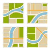 Set of Abstract City Map Illustration. Vector — ストックベクタ