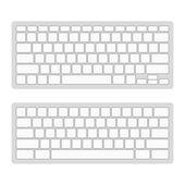 Computer Keyboard Blank Template Set. Vector — Stock Vector