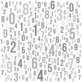 数字と抽象的な背景。ベクトル — ストックベクタ