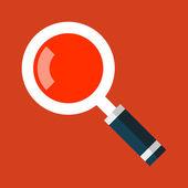 Hledat ikonu lupy v ploché styl. vektor — Stock vektor